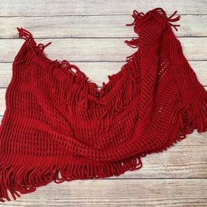 D&Y red infinity scarf